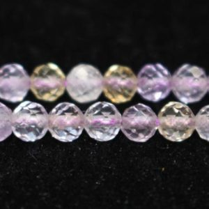 """Natural AA Faceted Ametrine Round Beads,3mm 4mm Faceted Ametrine Beads,Ametrine Beads,One Strand 15"""" 