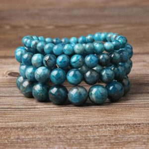 Wholesale Bracelet, Apatite Bracelet, Natural Stone Beads Bracelet Jewelry For Men Women 4mm 6mm 8mm 10mm 8'' | Natural genuine Gemstone jewelry. Buy handcrafted artisan men's jewelry, gifts for men.  Unique handmade mens fashion accessories. #jewelry #beadedjewelry #beadedjewelry #shopping #gift #handmadejewelry #jewelry #affiliate #ad