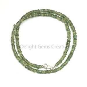 Shop Apatite Necklaces! Green Apatite Beaded Necklace, 4-5mm Apatite Smooth Roundel Tyre Beads Necklace, Semi Precious Stone// Transparent Gems 18 Inches Necklace | Natural genuine Apatite necklaces. Buy crystal jewelry, handmade handcrafted artisan jewelry for women.  Unique handmade gift ideas. #jewelry #beadednecklaces #beadedjewelry #gift #shopping #handmadejewelry #fashion #style #product #necklaces #affiliate #ad
