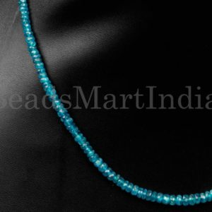 Shop Apatite Necklaces! Neon Apatite Faceted Rondelle Necklace Beads, Neon Apatite Necklace Beads, Neo Apatite Beads, Apatite Necklace, Apatite Rondelle Beads | Natural genuine Apatite necklaces. Buy crystal jewelry, handmade handcrafted artisan jewelry for women.  Unique handmade gift ideas. #jewelry #beadednecklaces #beadedjewelry #gift #shopping #handmadejewelry #fashion #style #product #necklaces #affiliate #ad