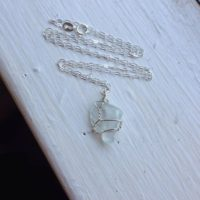 Aquamarine Necklace Wirewrapped With Sterling Silver – Natural Crystal Pendant – Healing, Ecofriendly, Made With Love | Natural genuine Gemstone jewelry. Buy crystal jewelry, handmade handcrafted artisan jewelry for women.  Unique handmade gift ideas. #jewelry #beadedjewelry #beadedjewelry #gift #shopping #handmadejewelry #fashion #style #product #jewelry #affiliate #ad