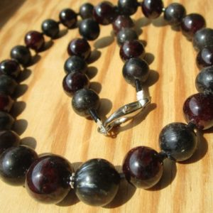 Shop Jet Necklaces! Astrophyllite Garnet Biotite Lignite / Jet Necklace   Natural genuine Jet necklaces. Buy crystal jewelry, handmade handcrafted artisan jewelry for women.  Unique handmade gift ideas. #jewelry #beadednecklaces #beadedjewelry #gift #shopping #handmadejewelry #fashion #style #product #necklaces #affiliate #ad