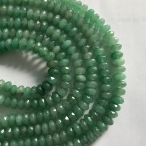 Shop Aventurine Faceted Beads! Aventurine 6x3mm 8x4mm Faceted Roundelle Gemstone Beads-15.5 Inch Strand | Natural genuine faceted Aventurine beads for beading and jewelry making.  #jewelry #beads #beadedjewelry #diyjewelry #jewelrymaking #beadstore #beading #affiliate #ad
