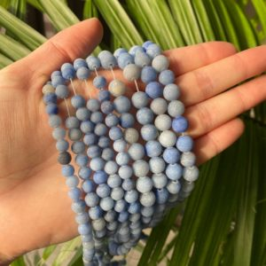 Shop Aventurine Bead Shapes! Blue Aventurine Beads, Matte Frosted Aventurine Beads, 15in Strand 6mm 8mm Gemstone Bead, Aventurine Gemstone Bead, High Quality Aventurine | Natural genuine other-shape Aventurine beads for beading and jewelry making.  #jewelry #beads #beadedjewelry #diyjewelry #jewelrymaking #beadstore #beading #affiliate #ad
