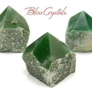 Shop Aventurine Points & Wands! 1 GREEN AVENTURINE Half Polished Point, Size Large for Abundance #GA28   Natural genuine stones & crystals in various shapes & sizes. Buy raw cut, tumbled, or polished gemstones for making jewelry or crystal healing energy vibration raising reiki stones. #crystals #gemstones #crystalhealing #crystalsandgemstones #energyhealing #affiliate #ad