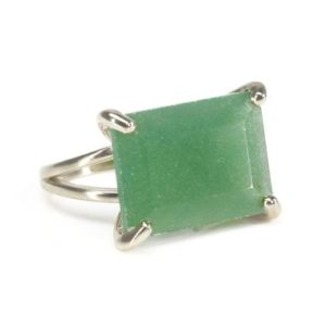 Shop Aventurine Rings! Silver Aventurine Ring · Emerald Cut Aventurine Ring · Prong Cocktail Ring · Victorian Ring · Gemstone Ring Silver · Wide Gem Ring Silver | Natural genuine Aventurine rings, simple unique handcrafted gemstone rings. #rings #jewelry #shopping #gift #handmade #fashion #style #affiliate #ad