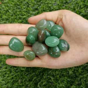 Shop Tumbled Aventurine Crystals & Pocket Stones! Green Aventurine Tumbled Stones 15-25mm | Natural genuine stones & crystals in various shapes & sizes. Buy raw cut, tumbled, or polished gemstones for making jewelry or crystal healing energy vibration raising reiki stones. #crystals #gemstones #crystalhealing #crystalsandgemstones #energyhealing #affiliate #ad