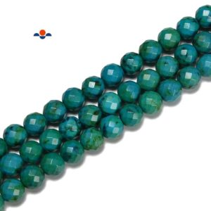 Shop Azurite Beads! Azurite Faceted Round Beads Size 6mm 8mm 10mm 15.5'' Strand   Natural genuine beads Azurite beads for beading and jewelry making.  #jewelry #beads #beadedjewelry #diyjewelry #jewelrymaking #beadstore #beading #affiliate #ad