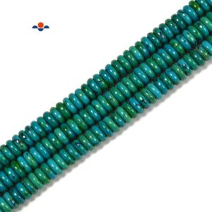 Azurite Smooth Rondelle Beads Size 2x6mm 3x8mm 15.5'' Strand | Natural genuine rondelle Azurite beads for beading and jewelry making.  #jewelry #beads #beadedjewelry #diyjewelry #jewelrymaking #beadstore #beading #affiliate #ad