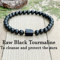 Black Tourmaline Bracelet, Protection Bracelet, Cleanse Aura, Protect & Repair Aura, Clear Negative Energy, Positive Energy, Energy Bracelet | Natural genuine Gemstone jewelry. Buy crystal jewelry, handmade handcrafted artisan jewelry for women.  Unique handmade gift ideas. #jewelry #beadedjewelry #beadedjewelry #gift #shopping #handmadejewelry #fashion #style #product #jewelry #affiliate #ad