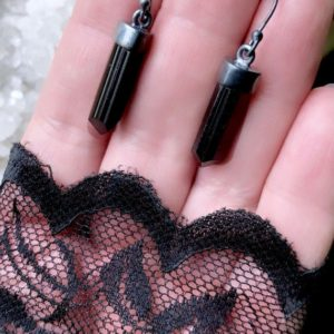 Shop Black Tourmaline Earrings! Black tourmaline  earrings | Natural genuine Black Tourmaline earrings. Buy crystal jewelry, handmade handcrafted artisan jewelry for women.  Unique handmade gift ideas. #jewelry #beadedearrings #beadedjewelry #gift #shopping #handmadejewelry #fashion #style #product #earrings #affiliate #ad