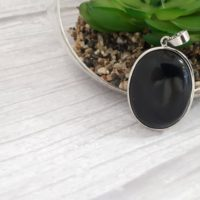 Black Tourmaline Pendant Jewelry Set. Tourmaline Pendant Silver – Tourmaline Jewelry Gifts For Her. Oval Crystal- Black Tourmaline Necklace | Natural genuine Gemstone jewelry. Buy crystal jewelry, handmade handcrafted artisan jewelry for women.  Unique handmade gift ideas. #jewelry #beadedjewelry #beadedjewelry #gift #shopping #handmadejewelry #fashion #style #product #jewelry #affiliate #ad
