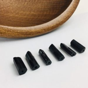 Shop Black Tourmaline Points & Wands! Raw Tourmaline Crystal (BTS5) Black Tourmaline Rough Schorl Sticks Bars Terminated drilled AA Lot Set | Natural genuine stones & crystals in various shapes & sizes. Buy raw cut, tumbled, or polished gemstones for making jewelry or crystal healing energy vibration raising reiki stones. #crystals #gemstones #crystalhealing #crystalsandgemstones #energyhealing #affiliate #ad
