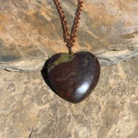 Dragon Bloodstone Necklace / Heart Necklace / Dragon Blood Stone Necklace / Copper Necklace / Heart Stone | Natural genuine Gemstone jewelry. Buy crystal jewelry, handmade handcrafted artisan jewelry for women.  Unique handmade gift ideas. #jewelry #beadedjewelry #beadedjewelry #gift #shopping #handmadejewelry #fashion #style #product #jewelry #affiliate #ad