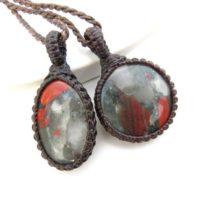 Stone Of Courage, African Bloodstone Gemstone Necklace Set, Layering Necklace Set, Bloodstone Jewelry, Men Necklace, Fathers Day Gifts | Natural genuine Gemstone jewelry. Buy crystal jewelry, handmade handcrafted artisan jewelry for women.  Unique handmade gift ideas. #jewelry #beadedjewelry #beadedjewelry #gift #shopping #handmadejewelry #fashion #style #product #jewelry #affiliate #ad