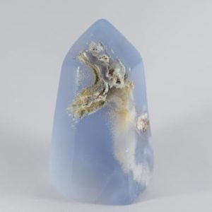 Shop Blue Chalcedony Stones & Crystals! Blue Chalcedony Tower | Natural genuine stones & crystals in various shapes & sizes. Buy raw cut, tumbled, or polished gemstones for making jewelry or crystal healing energy vibration raising reiki stones. #crystals #gemstones #crystalhealing #crystalsandgemstones #energyhealing #affiliate #ad