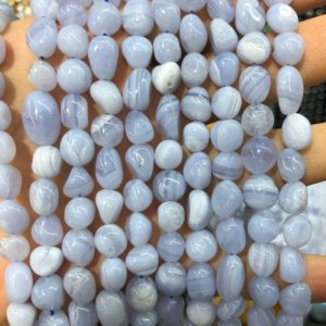 Shop Blue Lace Agate Chip & Nugget Beads! Blue Lace Agate Beads, Natural Gemstone Beads, Nugget Stone Beads For Jewelry Making 6-8mm 8-10mm   Natural genuine chip Blue Lace Agate beads for beading and jewelry making.  #jewelry #beads #beadedjewelry #diyjewelry #jewelrymaking #beadstore #beading #affiliate #ad