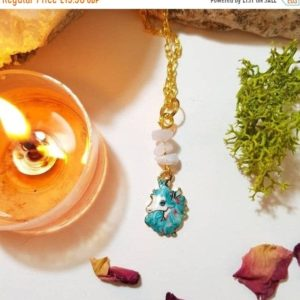 Shop Blue Lace Agate Necklaces! 20% OFF SUMMER SALE Calming Blue Lace Agate unicorn necklace | Natural genuine Blue Lace Agate necklaces. Buy crystal jewelry, handmade handcrafted artisan jewelry for women.  Unique handmade gift ideas. #jewelry #beadednecklaces #beadedjewelry #gift #shopping #handmadejewelry #fashion #style #product #necklaces #affiliate #ad