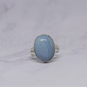 Shop Blue Lace Agate Rings! Blue Lace Agate Ring, 925 Silver Ring, Statement Ring, Lace Agate Jewelry, Christmas Sale, Birthday Ring, Simple Band, Gift For Her, Boho   Natural genuine Blue Lace Agate rings, simple unique handcrafted gemstone rings. #rings #jewelry #shopping #gift #handmade #fashion #style #affiliate #ad