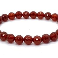 8mm Faceted Carnelian Bracelet Courage Chakra Stone Bracelet, Courage And Healing Illness Support , Healing Courage Crystal, Christmas Gifts | Natural genuine Gemstone jewelry. Buy crystal jewelry, handmade handcrafted artisan jewelry for women.  Unique handmade gift ideas. #jewelry #beadedjewelry #beadedjewelry #gift #shopping #handmadejewelry #fashion #style #product #jewelry #affiliate #ad