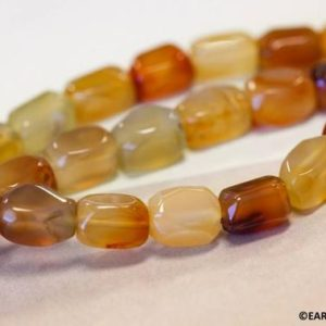 """Shop Carnelian Chip & Nugget Beads! M/ Natural Carnelian 9x14mm Rectangle Nugget beads 16"""" strand Size/ Shade varies for jewelry making 