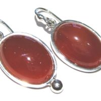 Carnelian Earrings Silver 925%   Natural genuine Gemstone jewelry. Buy crystal jewelry, handmade handcrafted artisan jewelry for women.  Unique handmade gift ideas. #jewelry #beadedjewelry #beadedjewelry #gift #shopping #handmadejewelry #fashion #style #product #jewelry #affiliate #ad