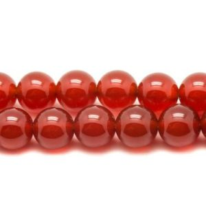 Shop Carnelian Bead Shapes! Wire 63pc – stone beads – carnelian balls 6 mm approx 39cm | Natural genuine other-shape Carnelian beads for beading and jewelry making.  #jewelry #beads #beadedjewelry #diyjewelry #jewelrymaking #beadstore #beading #affiliate #ad