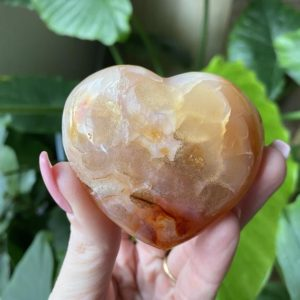 Shop Carnelian Shapes! Carnelian heart with chalcedony | Natural genuine stones & crystals in various shapes & sizes. Buy raw cut, tumbled, or polished gemstones for making jewelry or crystal healing energy vibration raising reiki stones. #crystals #gemstones #crystalhealing #crystalsandgemstones #energyhealing #affiliate #ad