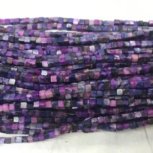 Shop Sugilite Beads! Chinese Sugilite 4x4mm Cube Blue  Purple Dyed Gemstone Loose Beads 15 inch Jewelry Supply Bracelet Necklace Material Support Wholesale | Natural genuine other-shape Sugilite beads for beading and jewelry making.  #jewelry #beads #beadedjewelry #diyjewelry #jewelrymaking #beadstore #beading #affiliate #ad