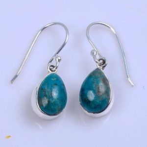 Shop Chrysocolla Earrings! Natural Chrysocolla Earrings ,Gemstone jewelry, 925 Solid Silver Earring, Pear Stone Earring, Chrysocolla Earrings,Gifts for Women   Natural genuine Chrysocolla earrings. Buy crystal jewelry, handmade handcrafted artisan jewelry for women.  Unique handmade gift ideas. #jewelry #beadedearrings #beadedjewelry #gift #shopping #handmadejewelry #fashion #style #product #earrings #affiliate #ad