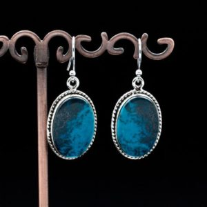 Shop Chrysocolla Earrings! Sterling Silver Chrysocolla Earrings   Natural genuine Chrysocolla earrings. Buy crystal jewelry, handmade handcrafted artisan jewelry for women.  Unique handmade gift ideas. #jewelry #beadedearrings #beadedjewelry #gift #shopping #handmadejewelry #fashion #style #product #earrings #affiliate #ad