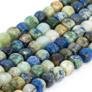 Shop Chrysocolla Faceted Beads! Genuine Natural Chrysocolla Loose Beads Grade A Faceted Cube Shape 5x5mm   Natural genuine faceted Chrysocolla beads for beading and jewelry making.  #jewelry #beads #beadedjewelry #diyjewelry #jewelrymaking #beadstore #beading #affiliate #ad
