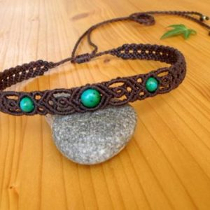 Shop Chrysocolla Necklaces! Macrame choker, chrysocolla necklace, macrame jewelry, chrysocolla choker, macrame necklace, gemstone choker, macrame headband, boho jewelry | Natural genuine Chrysocolla necklaces. Buy crystal jewelry, handmade handcrafted artisan jewelry for women.  Unique handmade gift ideas. #jewelry #beadednecklaces #beadedjewelry #gift #shopping #handmadejewelry #fashion #style #product #necklaces #affiliate #ad