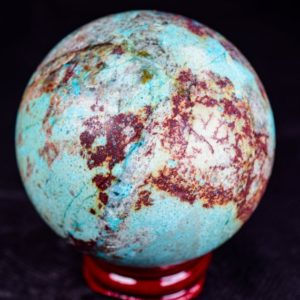 """Shop Chrysocolla Shapes! Chrysocolla Cuprite Sphere 2.5"""" In Diameter 342 Grams   Natural genuine stones & crystals in various shapes & sizes. Buy raw cut, tumbled, or polished gemstones for making jewelry or crystal healing energy vibration raising reiki stones. #crystals #gemstones #crystalhealing #crystalsandgemstones #energyhealing #affiliate #ad"""