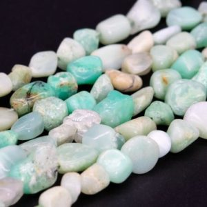 Shop Chrysoprase Chip & Nugget Beads! Genuine Natural Chrysoprase / Australian Jade Loose Beads Pebble Chips Shape 3-8mm | Natural genuine chip Chrysoprase beads for beading and jewelry making.  #jewelry #beads #beadedjewelry #diyjewelry #jewelrymaking #beadstore #beading #affiliate #ad