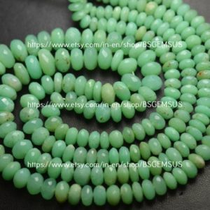 Shop Chrysoprase Faceted Beads! 7 Inches Strand,Natural Chrysoprase Faceted Rondelles, Size 6-9mm | Natural genuine faceted Chrysoprase beads for beading and jewelry making.  #jewelry #beads #beadedjewelry #diyjewelry #jewelrymaking #beadstore #beading #affiliate #ad