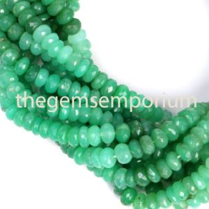 Shop Chrysoprase Faceted Beads! Chrysoprase Faceted rondelle Shape beads, Chrysoprase rondelle Shape Beads, Chrysoprase Faceted Beads, Chrysoprase Beads, Chrysoprase | Natural genuine faceted Chrysoprase beads for beading and jewelry making.  #jewelry #beads #beadedjewelry #diyjewelry #jewelrymaking #beadstore #beading #affiliate #ad