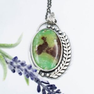 Shop Chrysoprase Necklaces! Chrysoprase necklace in sterling silver   Natural genuine Chrysoprase necklaces. Buy crystal jewelry, handmade handcrafted artisan jewelry for women.  Unique handmade gift ideas. #jewelry #beadednecklaces #beadedjewelry #gift #shopping #handmadejewelry #fashion #style #product #necklaces #affiliate #ad
