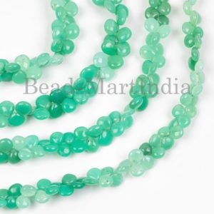 Shop Chrysoprase Bead Shapes! Chrysoprase Plain Heart Shape Gemstone Natural Beads, Chrysoprase Smooth Heart Beads, Chrysoprase Smooth Beads, Chrysoprase Natural Beads | Natural genuine other-shape Chrysoprase beads for beading and jewelry making.  #jewelry #beads #beadedjewelry #diyjewelry #jewelrymaking #beadstore #beading #affiliate #ad