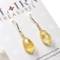 Citrine Earrings Gold Filled Wire Wrapped Natural Golden Yellow Gemstones Simple Dainty Dangle Drops November Birthstone Gift For Her 6274   Natural genuine Gemstone jewelry. Buy crystal jewelry, handmade handcrafted artisan jewelry for women.  Unique handmade gift ideas. #jewelry #beadedjewelry #beadedjewelry #gift #shopping #handmadejewelry #fashion #style #product #jewelry #affiliate #ad