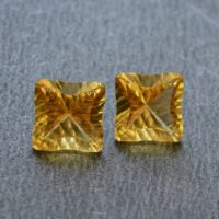 Natural Citrine Earring Pairs, Faceted Gemstone, Matched Pairs, Fancy Cut Citrine Stone, Cufflinks Pairs, 13mm, 2 Pcs Lot #ar7926 | Natural genuine Gemstone jewelry. Buy crystal jewelry, handmade handcrafted artisan jewelry for women.  Unique handmade gift ideas. #jewelry #beadedjewelry #beadedjewelry #gift #shopping #handmadejewelry #fashion #style #product #jewelry #affiliate #ad