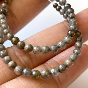 Shop Diamond Round Beads! 10 Beads 2mm To 3.5mm Natural Grey Smooth Polished Round Diamond Beads, Rare Gray Diamond Ball Shaped Beads, DDS729/2 | Natural genuine round Diamond beads for beading and jewelry making.  #jewelry #beads #beadedjewelry #diyjewelry #jewelrymaking #beadstore #beading #affiliate #ad