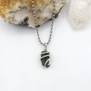 Shop Diopside Pendants! Diopside Crystal Necklace, Silver Wire Wrapped Diopside Pendant | Natural genuine Diopside pendants. Buy crystal jewelry, handmade handcrafted artisan jewelry for women.  Unique handmade gift ideas. #jewelry #beadedpendants #beadedjewelry #gift #shopping #handmadejewelry #fashion #style #product #pendants #affiliate #ad