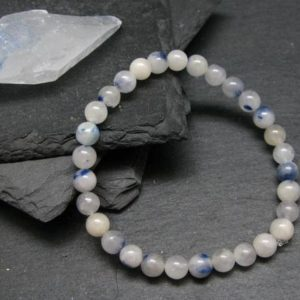 Shop Dumortierite Bracelets! Dumortierite In Quartz Genuine Bracelet ~ 7 Inches  ~ 6mm Round Beads | Natural genuine Dumortierite bracelets. Buy crystal jewelry, handmade handcrafted artisan jewelry for women.  Unique handmade gift ideas. #jewelry #beadedbracelets #beadedjewelry #gift #shopping #handmadejewelry #fashion #style #product #bracelets #affiliate #ad