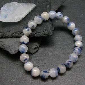Shop Dumortierite Bracelets! Dumortierite In Quartz Genuine Bracelet ~ 7 Inches  ~ 8mm Round Beads | Natural genuine Dumortierite bracelets. Buy crystal jewelry, handmade handcrafted artisan jewelry for women.  Unique handmade gift ideas. #jewelry #beadedbracelets #beadedjewelry #gift #shopping #handmadejewelry #fashion #style #product #bracelets #affiliate #ad