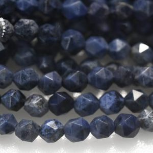 """Shop Dumortierite Beads! Blue Dumortierite Faceted Nugget Star Cut Beads,Diamond cut bead,Nugget beads,Grade A,natural,gemstone,diy bead,6mm 8mm 10mm,15"""" full strand 