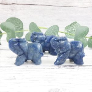 Shop Dumortierite Stones & Crystals! Dumortierite Elephant Statue, Reiki Infused Blue Quartz Crystal Elephant, Self Care Mindfulness Gift | Natural genuine stones & crystals in various shapes & sizes. Buy raw cut, tumbled, or polished gemstones for making jewelry or crystal healing energy vibration raising reiki stones. #crystals #gemstones #crystalhealing #crystalsandgemstones #energyhealing #affiliate #ad