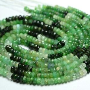 """Shop Emerald Faceted Beads! 16"""" Strand Natural Emerald Rondelles 4mm to 5mm Faceted Gemstone Rondelle Beads Finest Emerald Beads Precious Stone Beads No3750 