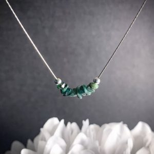 Shop Emerald Necklaces! Raw Emerald Necklace Heart Chakra Healing Stone Crystal Birthstone Choker   Natural genuine Emerald necklaces. Buy crystal jewelry, handmade handcrafted artisan jewelry for women.  Unique handmade gift ideas. #jewelry #beadednecklaces #beadedjewelry #gift #shopping #handmadejewelry #fashion #style #product #necklaces #affiliate #ad