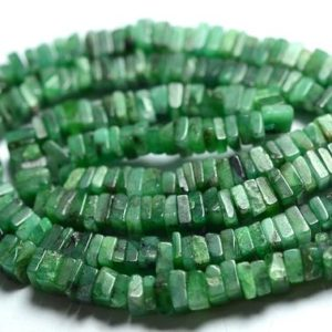 Shop Emerald Bead Shapes! 16 Inch Strand Natural Emerald Heishi Beads 3.5×3.5mm to 4×4.5mm Square Smooth Gemstone Heishi Beads Emerald Beads Precious Stone No4664 | Natural genuine other-shape Emerald beads for beading and jewelry making.  #jewelry #beads #beadedjewelry #diyjewelry #jewelrymaking #beadstore #beading #affiliate #ad